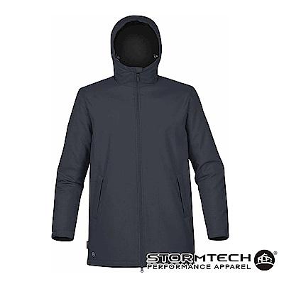 【加拿大STORMTECH】SPK-1防撥水細刷毛長版機能外套-男-深藍