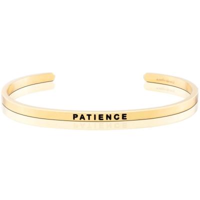 MANTRABAND PATIENCE 金色手環 值得耐心等待