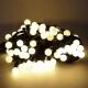 聖誕燈100燈LED圓球珍珠燈串(插電式/暖白光黑線/附控制器跳機)(高亮度又省電) product thumbnail 1