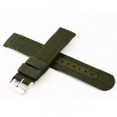 軍用尼龍帆布錶帶-軍綠色
