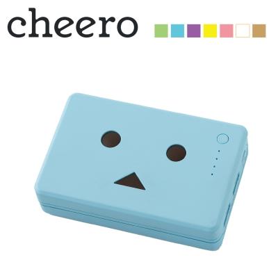日本cheero花阿愣10050mAh雙輸出行動電源(2A快充)-繡球花/藍