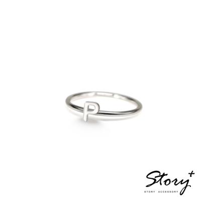 STORY ACCESSORY-字母系列-字母P 純銀戒指