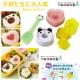 Kiret 日本廚房貓熊 愛心 小花 贈小鏟子 卡通飯糰模具3入壽司飯糰模具 product thumbnail 1