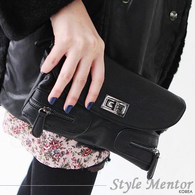 【Style Mentor】時尚名媛風皮革小包包 (黑色)