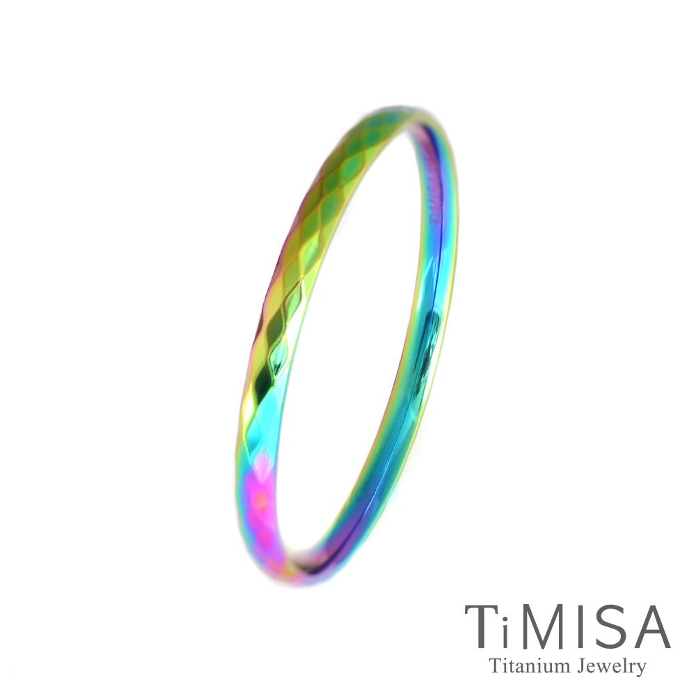TiMISA 格緻真愛-細版 (極光) 純鈦手環