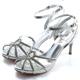 DIANA-熱情森巴-線條水鑽八爪高跟鞋-銀