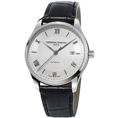 康斯登CLASSICS百年經典系列INDEX腕錶-42mm/銀白x黑