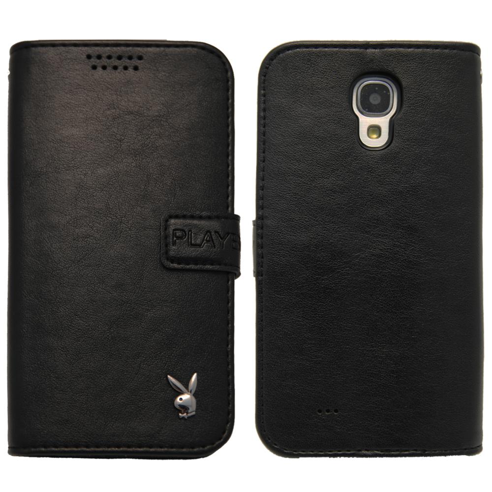 Aztec Playboy Samsung Galaxy J 側掀式皮套-素面黑
