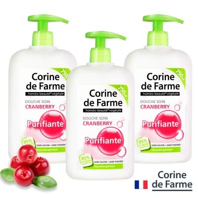 法國黎之芙蔓越莓淨白柔潤沐浴乳750ml三入組