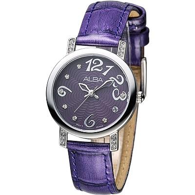 ALBA-天使心鑽甜美淑女腕錶-AG8455X1