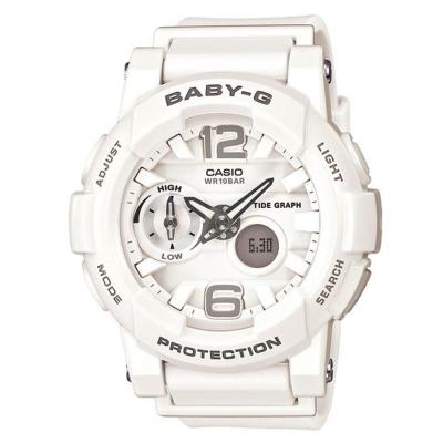 BABY-G 極限運動女孩衝浪板造型概念錶(BGA-180-7B1)-白色/44mm