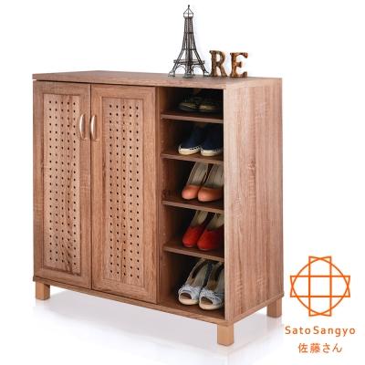 Sato DRIFT 時間蹤跡雙門五格鞋櫃‧幅87cm~W87~D39.5~H91 cm