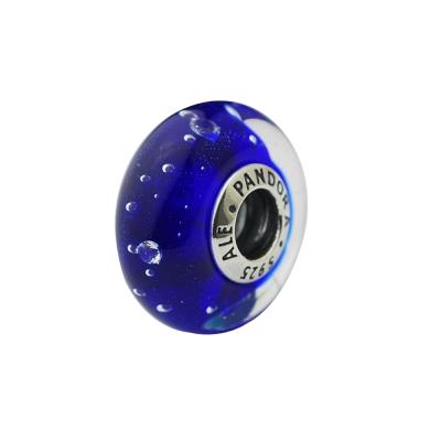 Pandora 潘朵拉 泡泡琉璃墜-寶藍色