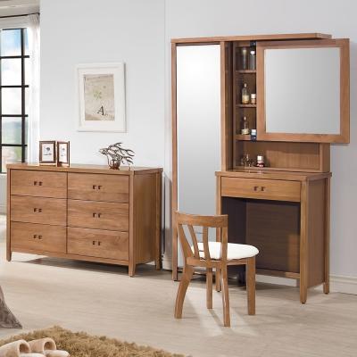 時尚屋 香杉美檜<b>3</b>.<b>5</b>尺化妝台 含椅子 寬106cm-免組