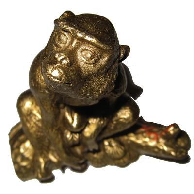招財金猴 金猴獻桃 猴擺件銅雕