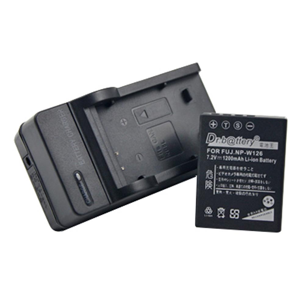 電池王 For FUJIFILM 富士 NP-W126 高容量鋰電池+充電器組