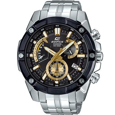 EDIFICE 粗曠賽車運動錶(EFR-559DB-1A9)黑x金/49.5mm