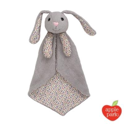美國 Apple Park 有機棉安撫巾禮盒 - 花瓣長耳兔