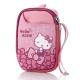 Hello Kitty牛津布相機包-蝴蝶結粉