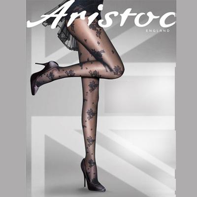 【摩達客】英國進口Aristoc 蕾絲玫瑰彈性絲襪