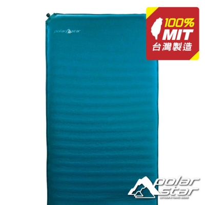 PolarStar 自動充氣睡墊-加厚加長 (台製/8.89cm/大氣嘴)『藍』P1676