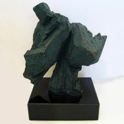 *創意時尚歐風*青銅色太極砂岩雕塑(送大理石台座)