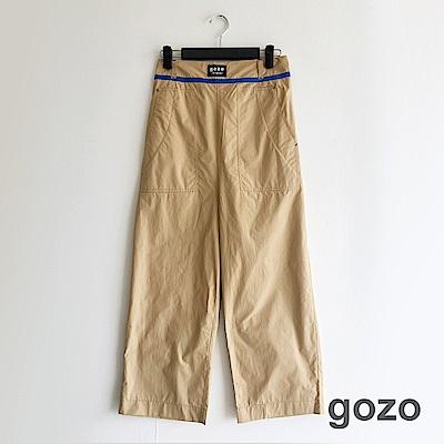 gozo 配色織帶水洗貼標低檔工作褲(二色)