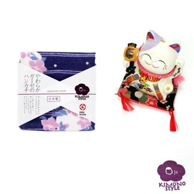 JS-日本製純棉方巾-夜桔梗30x30
