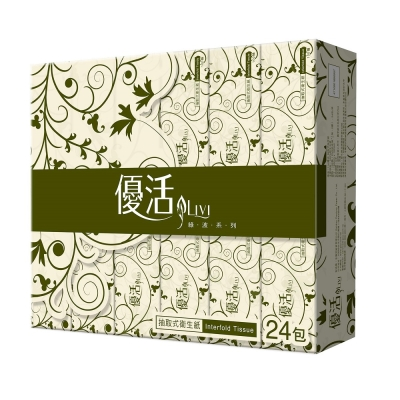 Livi 優活 抽取式衛生紙100抽24包4袋-箱