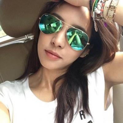 RAY BAN太陽眼鏡 經典品牌/金-水銀綠#RB3025 11219(大版)