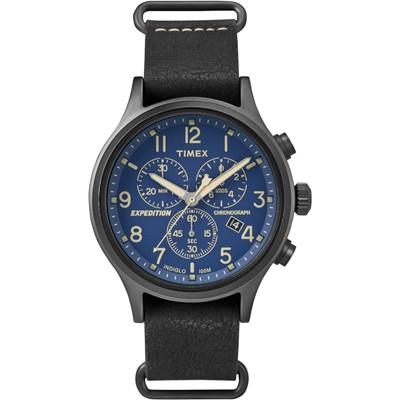 TIMEX 天美時 Scout Chrono系列三眼計時手錶-藍/42mm