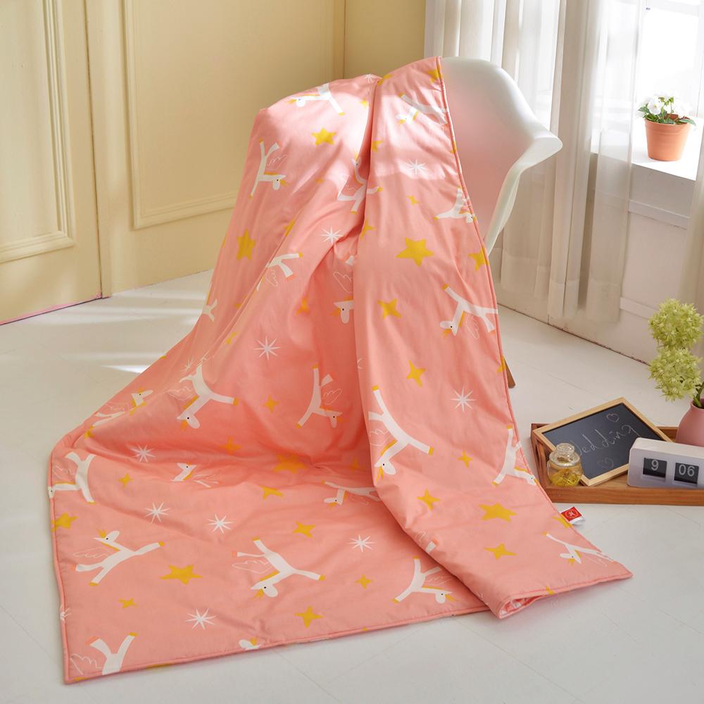 義大利F.B X Malis 小飛馬-粉紅 純棉吸濕透氣涼被(5x6.5尺)MIT