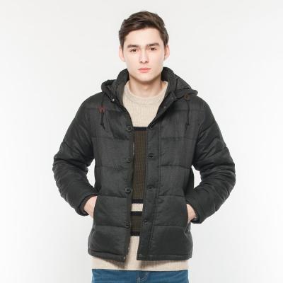 Hang Ten - 男裝 - 內鋪棉連帽外套 - 黑