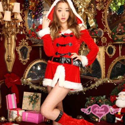 耶誕服 冬暖甜心 長袖聖誕舞會角色扮演服(紅F)  AngelHoney天使霓裳