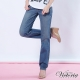 Victoria 繡花袋蓋男友直筒褲-女-淺藍 product thumbnail 1