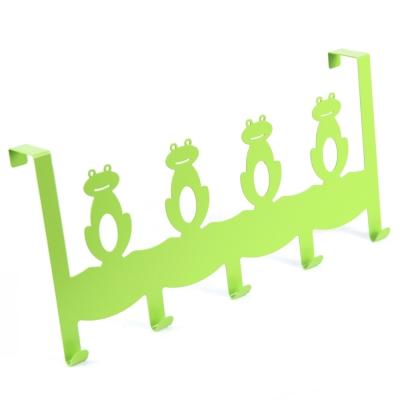 Wisdom 青蛙造型門後鉤(五鉤)(2入)