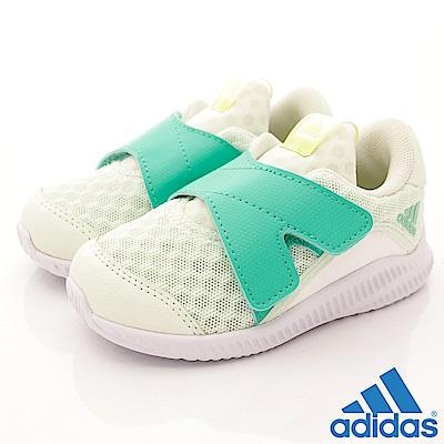adidas童鞋大網洞透氣學步鞋MEI242綠小童段