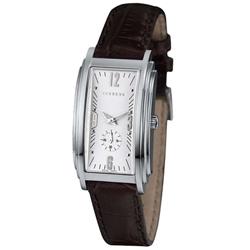 ICEBERG 羅馬假期系列獨立小秒針腕錶-銀x皮帶版/24x28mm