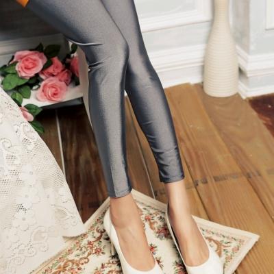 La Belleza珍珠紗亮面彈力軟布內搭褲