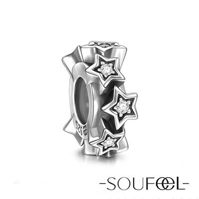 SOUFEEL索菲爾 925純銀珠飾 繁星 定位珠