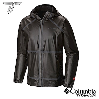 Columbia 哥倫比亞 男-鈦OD連帽防水雙面外套-黑色-URE10390BK