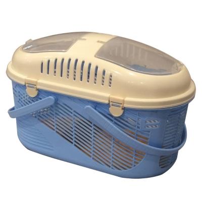 Pet Village 時尚雙天窗寵物提籠《藍色》