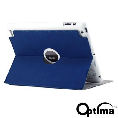 Optima Smart360 new ipad/iPad2 義大利小牛皮 保護套 藍色