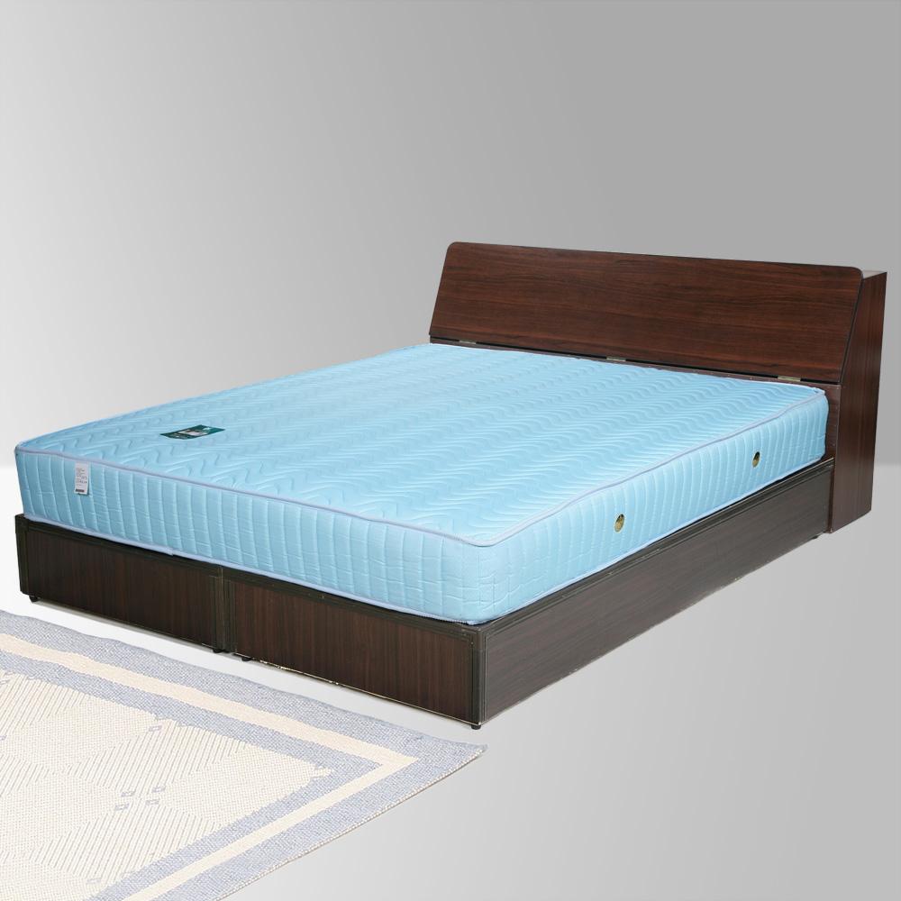 Homelike 諾雅6尺床組+獨立筒床墊-雙人加大(二色任選)