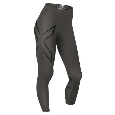 2XU-女用中腰款反光系列壓縮長褲