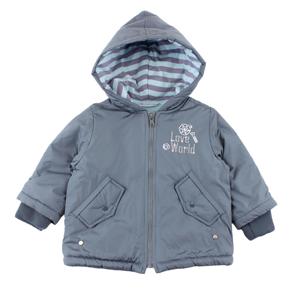愛的世界 機器人防風拉鍊長袖連帽外套/1~4歲