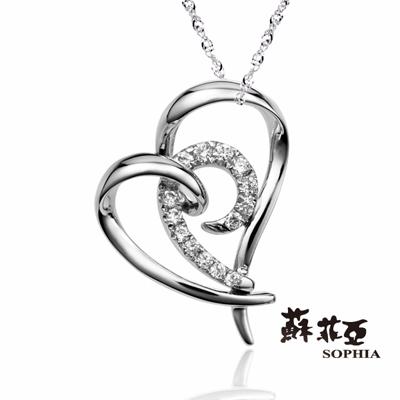 蘇菲亞SOPHIA 鑽石項鍊-眷戀0.10克拉鑽鍊