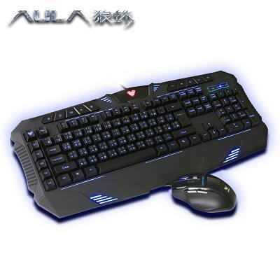 AULA狼蛛 弒天斬電競鍵盤滑鼠套裝(中文版) F-862+928