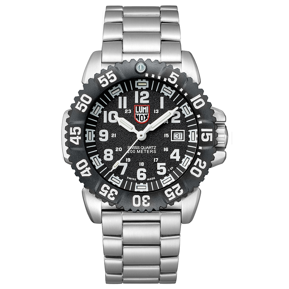 Luminox 3150系列海豹部隊鐵漢運動腕錶-黑x白時標/44mm
