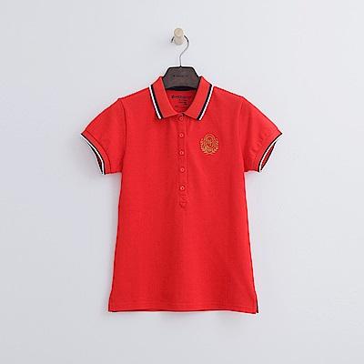 Hang Ten - 女裝 - 學院標章POLO-紅色